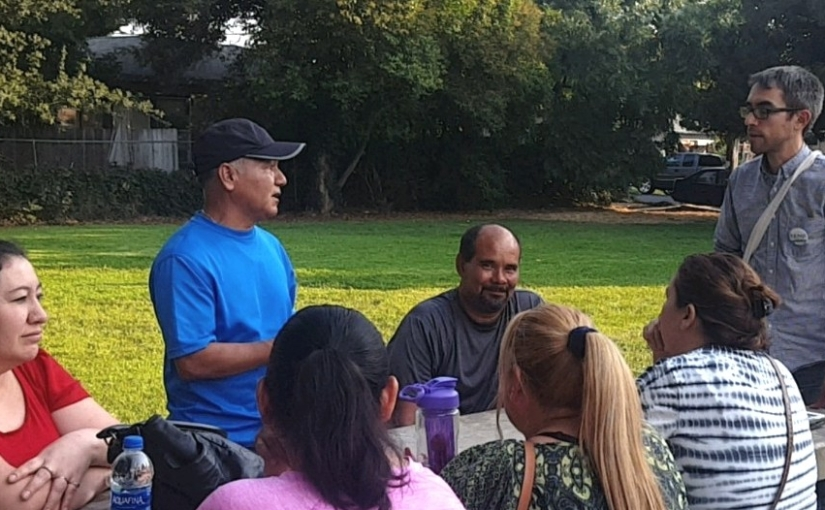 Meetup with residents in Cambridge Park – August 8, 2018